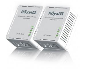 RoyalPlus HomePlug Powerline Network Ethernet Bridge RPL-500D-500Mbps (Pair)