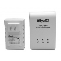 RoyalPlus HomePlug Powerline Network Ethernet Bridge RPL-501C-500Mbps (Pair)