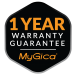 mygica 1 year warranty logo